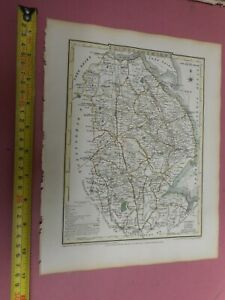 100% ORIGINAL LINCOLNSHIRE  MAP  BY ROPER COLE C1809 VGC HAND COLOURED