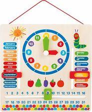 Raupe Nimmersatt Lerntafel Lernspiel Uhr Jahreszeiten Holztafel Kinder Lernuhr