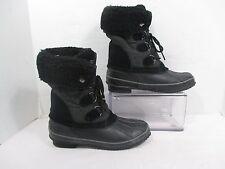 Abound BUNDLE Black Lace Up Thermalite Insole Winter Rain Boots EUC Sz 7M