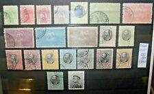 FRANCOBOLLI SERBIA 1901/05 SELEZIONE DI 21 VAL. DIFFERENTI TIMBRATI USED LOT (SC