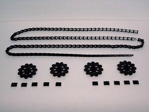 KNEX Black End Caps Standard and Micro Mini Parts//Pieces Lot