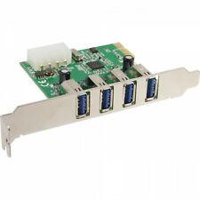 Scheda PCI Express Controller 4 Porte USB 3.0 A Femmina Alimentazione Molex NEC