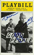 Good People signed Playbill frances mcdormand
