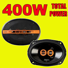 "EDGE 6""x9"" 400W TOTAL 3WAY 6x9 INCH 3-way car rear deck oval shelf speakers PAIR"