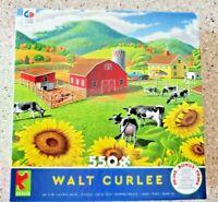 Farm Scene by Walt Curlee 550 Piece Jigsaw Puzzle - NIB - Free Shipping