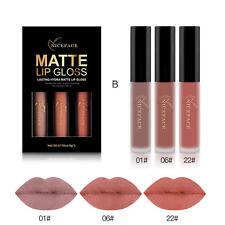 3pcs Long Lasting Matte Liquid Lipstick Waterproof Cosmetic Lip Gloss Kit B