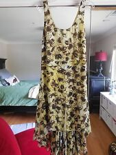 NWT Anthropologie Leifsdottir Multi Butterfly Petals Silk Dress Size 8 Boho