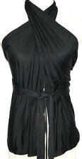 S 6+ WAYS TO WRAP BOHO BOHEMIAN GYPSY GOTHIC EMO TRIBAL STEAMPUNK Wrap Vest Top