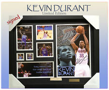 KEVIN DURANT THUNDER OF NBA # 35 MEMORABILIA SIGNED FRAMED LIMITED EDITION w/COA