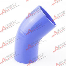 "3 Ply 3"" To 2.5'' 45 Degree Silicone Hose Coupler Pipe Blue"