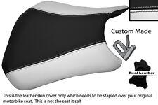 BLACK & WHITE CUSTOM FITS HONDA CBR 600 RR5 RR6 05-06 FRONT LEATHER SEAT COVER