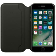 For iPhone SE 2020 Leather Case Genuine Folio Flip Wallet Black Case Stand Cover
