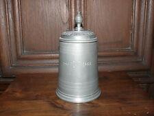 Large Old Jug Tin Tin Mug Beer Stein Solid Pewter Floor 3 Tin Stamp