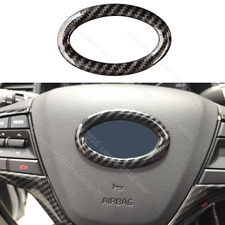 Fit For Hyundai Elantra Accent Carbon Fiber Color Steering Wheel Cover Trim