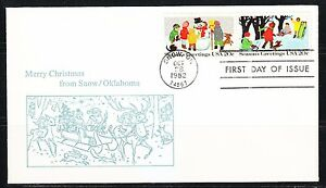 United States 1982 FDC cover Sc 2027-2028 Merry Christmas & Happy NewYear !