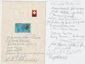 World Cup Football Soccer Switzerland 1954 BRAZIL TEAM signed autograph RARE!!