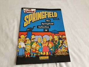 The Simpsons: The Springfield Collection IV Panini Sticker Book - 2003