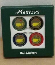 Masters (4) Pack GOLF BALL MARK Marker from AUGUSTA NATIONAL