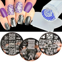 4pcs/set BORN PRETTY Nail Art Image Stamping Template Stencil Plate Stamper DIY