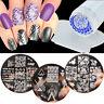 4pcs/set Nail Art Image Stamping Template Stencil Plate Stamper DIY BORN PRETTY