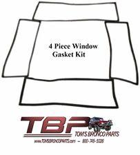 1966-1977 Early Ford Bronco Window Gasket Kit Set of 4 Gaskets PLAIN