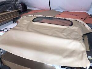1997-02 Porsche Boxster 986 Beige Mohair Soft Top Hood with Glass rear window
