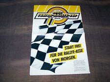 TOPRARITÄT Herrlicher Prospekt Opel Junior Rallye Cup von 1983 mit Manta 400 !!!