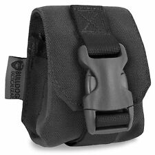 Bulldog MOLLE Frag Grenade Tactical Military Army Airsoft Pouch Holder Black NEW