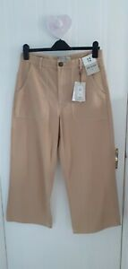BNWT Cropped Wide Leg Trousers Size 12