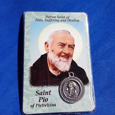 St Padre PIO Saint Medal Laminated Prayer Card Pain Suffering and Healing