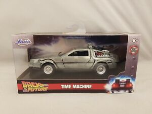 Jada Hollywood Rides Back To The Future Delorean Time Machine 1:32 Diecast model