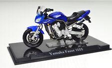 Yamaha Fazer 1000 bleu échelle 1:24 Moto Modèle de Atlas die-cast