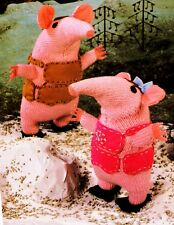 CLANGERS Vintage Toy Knitting Pattern PATONS 4970 DK Wool 8 inch & 10.5 inch