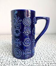 60s 70s Vintage Retro Blue Portmeirion Totem Ex Large Mug Tankard Vase
