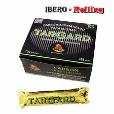 Carbón Targard 33 mm. Caja de 10 tabletas Carbón Aroma Fresa Shisha Cachimba