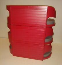 "Lot of 3 Roto Caddy Lazy Susan Medium 12"" Red Storage Cabinet Kitchen Organize"