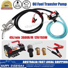 12V DC Electric Fuel Oil Diesel Transfer Pump Extractor Station 45L/Min 155W
