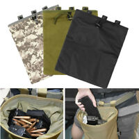 Military Magazine Airsoft Tactical Ammo Bag Dump Drop Pouch Utility Bag !