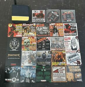 Joblot 22 Metal Hammer Compilation Cds 1 hell on earth Dvd and CD holder case