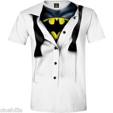T-Shirt Batman Blouse Fake Tie Men's Sweater Official Dc Comics