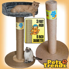 Cat Scratch Post 100% Sisal Rope Giant 3 foot! (with or without bed) PetzTrendz®