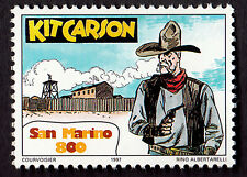 SAN MARINO FRANCOBOLLO  MNH**  COMICS FUMETTI ITALIANI KIT CARSON ALBERTARELLI