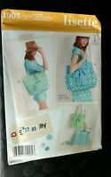 LISETTE Sewing PATTERN Simplicity #1905 3 Styles Tote Bags & Cosmetic Case uc