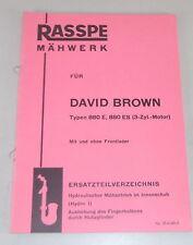 Teilekatalog Rasspe Mähwerk für David Brown Schlepper Stand 05/1965