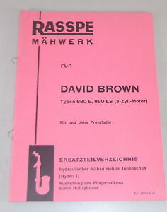Parts Catalog Rasspe Mower For David Brown Tractor Stand 05/1965