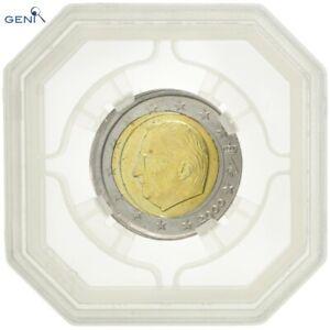 [#482745] Belgique, 2 Euro, 2000, Fautée - Frappe décentrée, Gradée, GENI, NC99