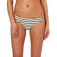 Amuse Society Serena Stripe Womens Swimwear Bikini Bottoms Casa Blanca Size XS
