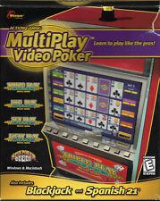 Multiplay Las Vegas Video Poker Masque Computer Game + Blackjack Spanish 21