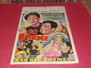 CINEMA AFFICHE ORIGINALE BELGE - EN BORDEE JEAN RICHARD PHILIPPE CLAY 1958