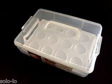 Multi-Purpose Cupcake Carrier 12 Cup Cake Muffin Transporter (P2) Plastic